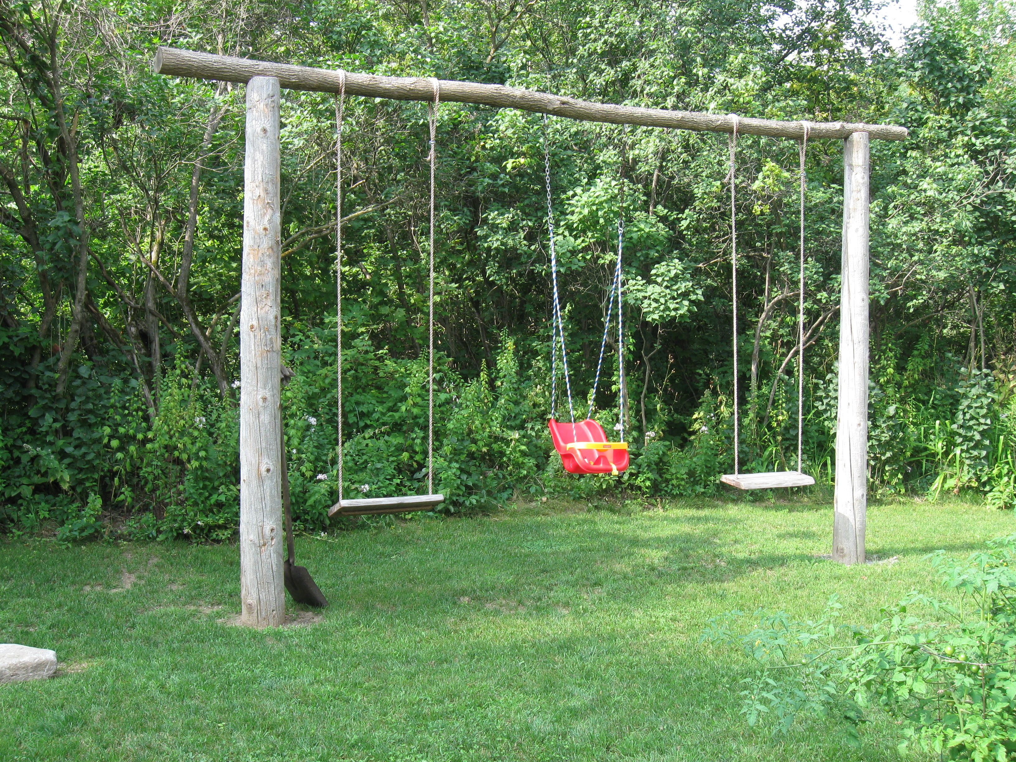 natural swing set if only i was handy enough to build something