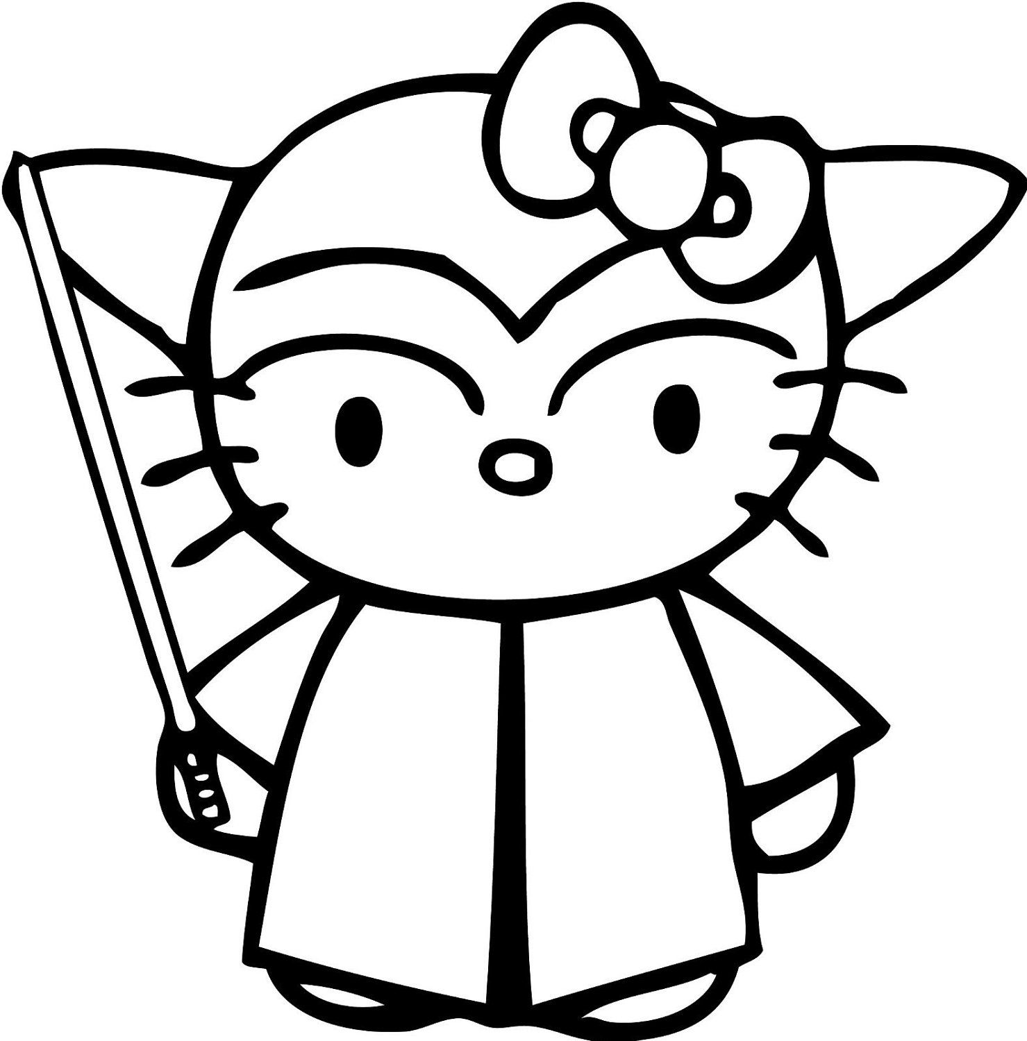 hello kitty coloring pages wallpapers for ipad   Pick Color Star Wars YODA Hello Kitty Vinyl Decal Sticker ...