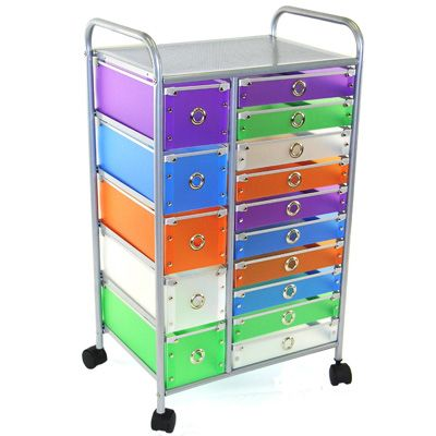 10 Drawer Rolling Storage Cart 15 Drawer Rolling