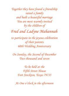 Finding the Right Wedding Anniversary Invitation Wording Wedding