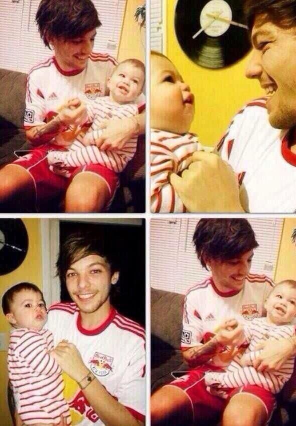There should be a law made that none of them should be able to have a picture taken with a baby because it is seriously killing me!! My feels are just, aaah! It is so cute seeing him hold a baby like what the heck! I can't even take it! Like what the heck it's an emotions over load!