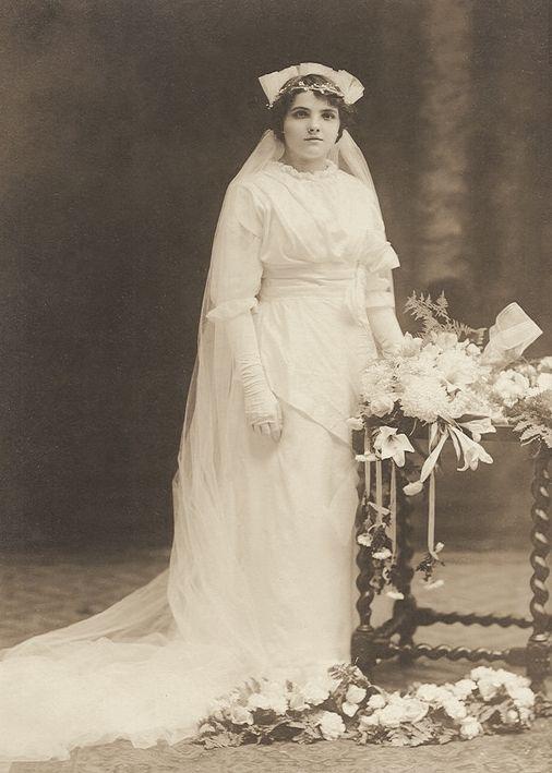 Vintage Photograph ~+~+ Bride swaddled in white silk. | VINTAGE ...