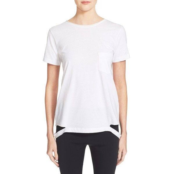 Helmut Lang Slash Hem T-Shirt Cheap Looking For Pre Order Cheap Price Sale Comfortable Discount Codes Really Cheap Get Authentic Cheap Price d4Bgw
