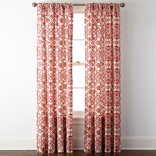 Jcpenney Home Landry Rod Pocket Back Tab Curtain Panel