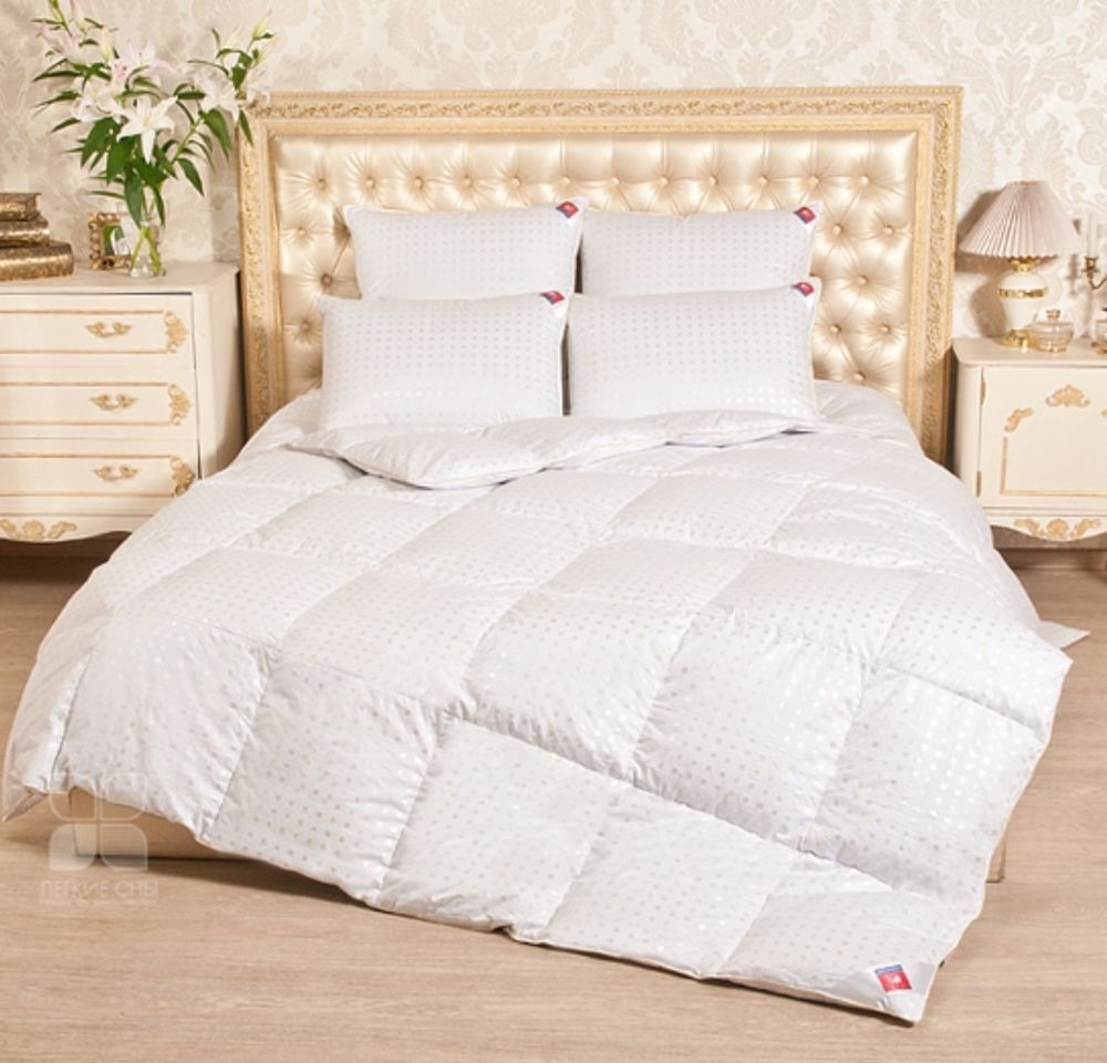 Details About Comforter A Duvet In Cotton Top 100 Filling White Down