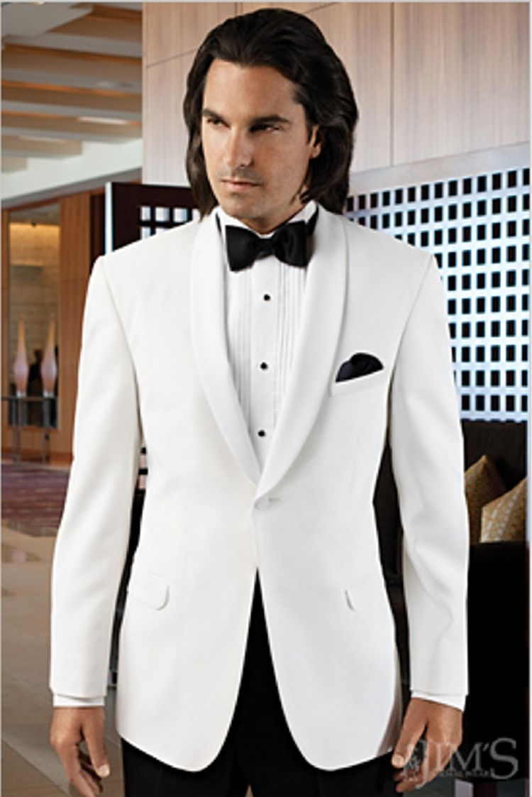 White groom\'s jacket | Wedding Ideas for Emmalee | Pinterest ...
