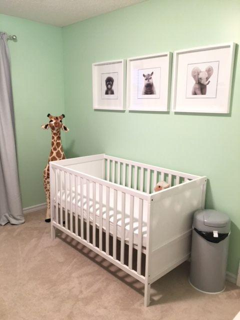 Nursery Zoo Animals Mint Green Babys Room Baby Boy
