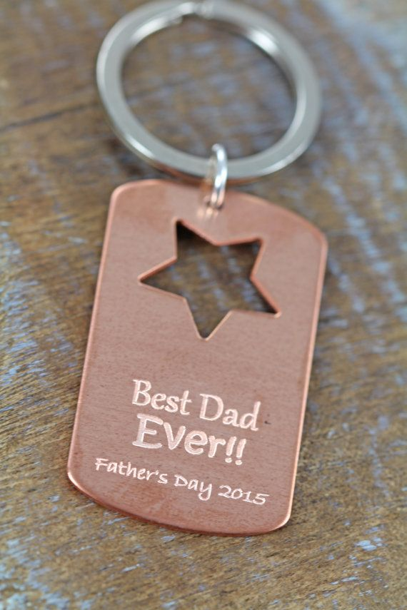 Fathers Day Gift, Personalized Key Ring, Unique Custom Gift