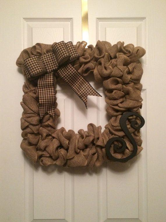 Front Door Square Wreath Customizable