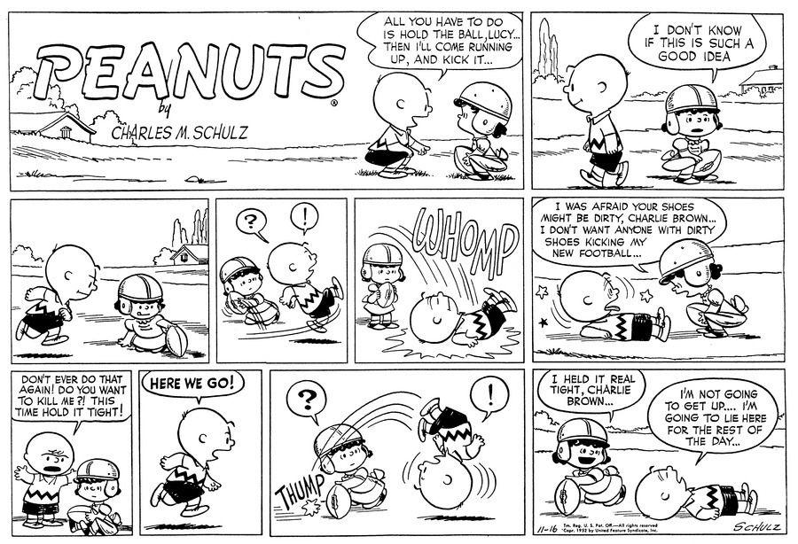 Brown charlie comic peanut strip