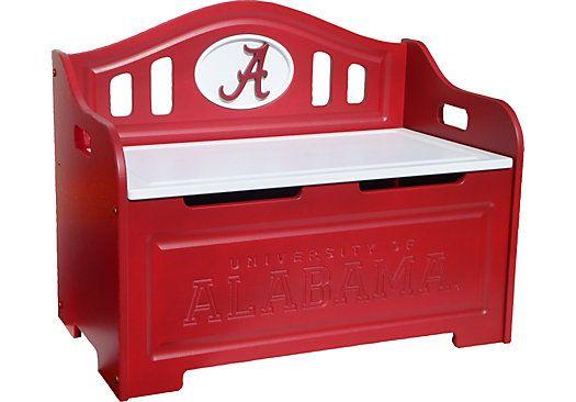 University of Alabama Storage Bench PLAYROOM Pinterest Alabama