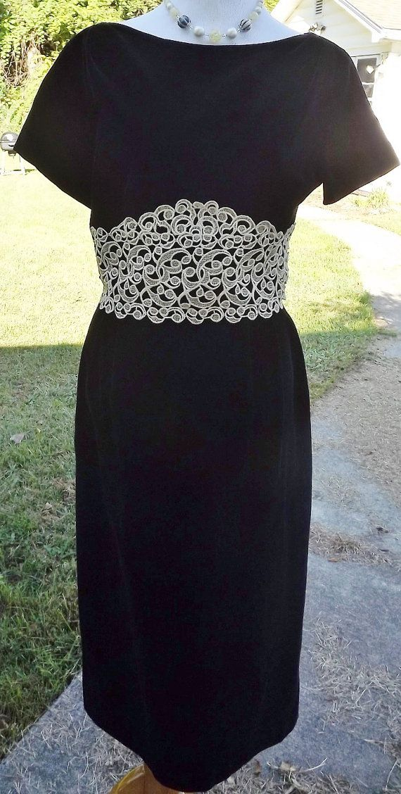 1950s/60s Emma Domb Black Velvet Dress by NostalgicRose on Etsy, $118.00