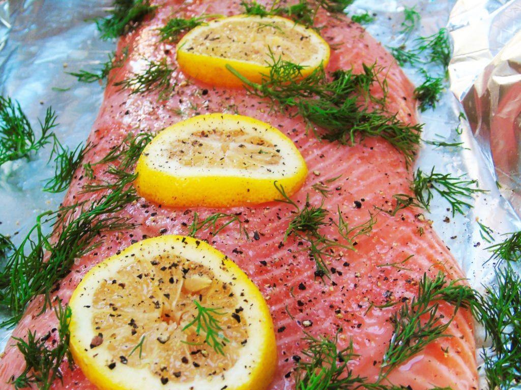 Photo of Syn Free Lemon & Dill Baked Salmon – Basement Bakehouse