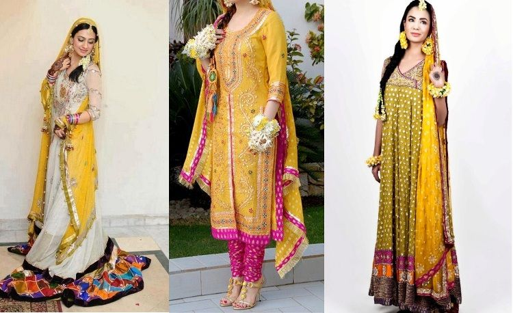 Mehndi Function Dresses 2015 : Latest pakistani mehndi dresses  for girls