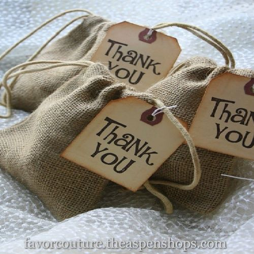 Wedding Favors Burlap Favor Bags With Hang Tags