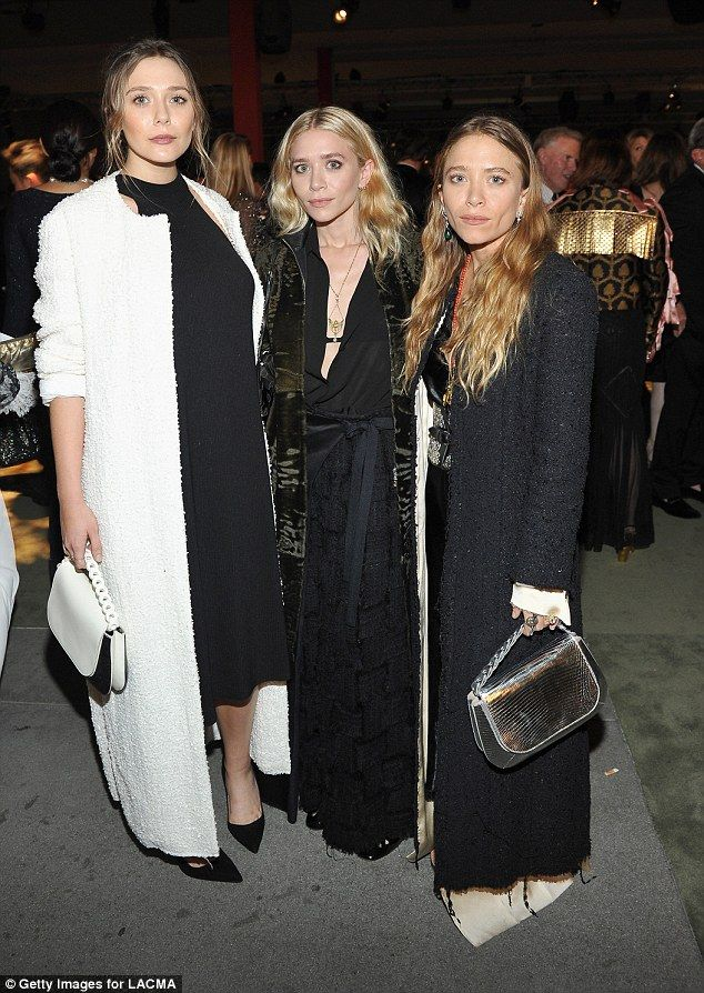 Famous siblings: The beauty is the youngest Olsen sister (pictured with twins Ashley and M...
