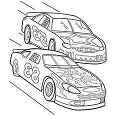 How to draw a nascar race car Car Drawing For Kids ...
