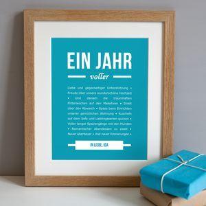 Personalisierter Druck Zum Ersten Jahrestag Geschenke Für Ihn