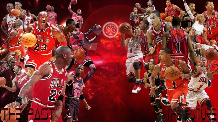 449f5d11ca85 Chicago Bulls Jordan and Derrick Rose Wallpaper