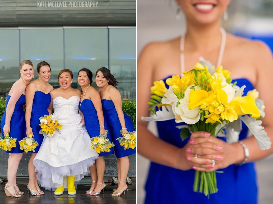 blue and yellow bouquet | HOTEL MARLOWE WEDDING: KIM   EDRIC ...