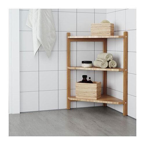 Rgrund Sink Shelfcorner Shelf Bamboo In 2019 Home Decor