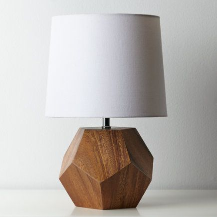 Faceted Wood Table Lamp Saw One Similar Target But Mercury Glass Now Wish Had Taken
