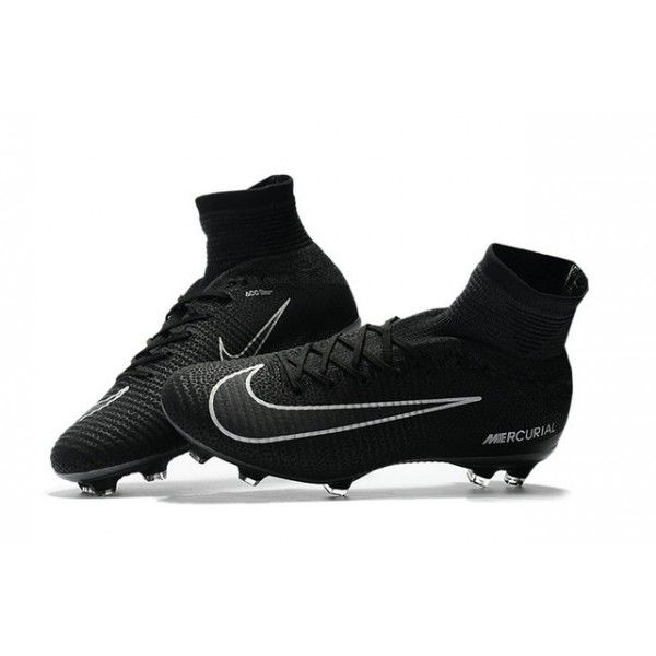 New 2017 Nike Mercurial Superfly V Fg Cleats Black Grey Nike Football Boots Girls Soccer Cleats Soccer Cleats Nike