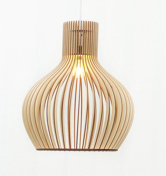 Lampen van hout / houten hangende lamp / hout lamp / lamp / lampen ...