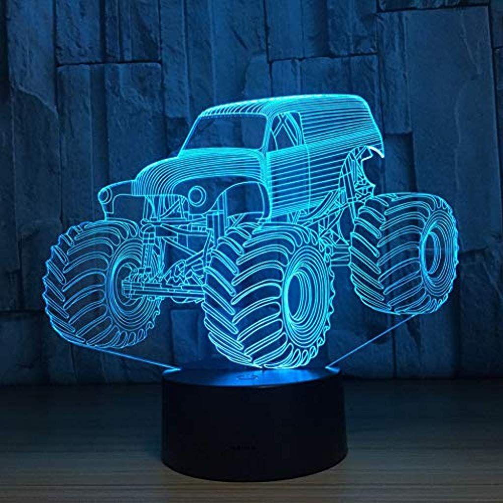 Yayic 3d Farben Lampe Auto Lkw Form Auto 3d Hause Beleuchtung Schlafzimmer Dekor Schreibtisch Tischlampe7 Farbwechsel 3d Haus 3d Farben Farbwechsel