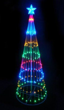multi color led light show cone christmas tree lighted yard art decoration outdoor lighted led christmas tree decoration item features - Amazon Outdoor Lighted Christmas Decorations