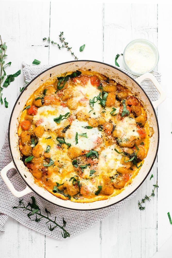One Pot Gnocchi Caprese An easy baked gnocchi reci