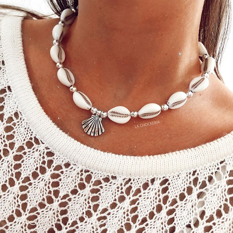 Collar Con Caracoles Necklace Jewelry Fashion
