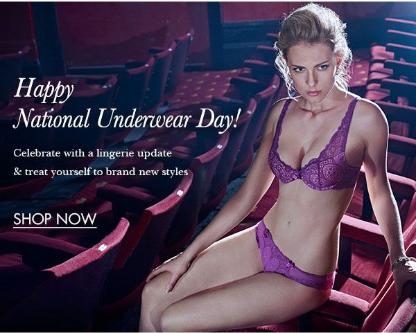Happy National Underwear Day!   Celebrate by treating yourself today! Love Miss B x  Shop here>> http://bouxavenue.com/new-in