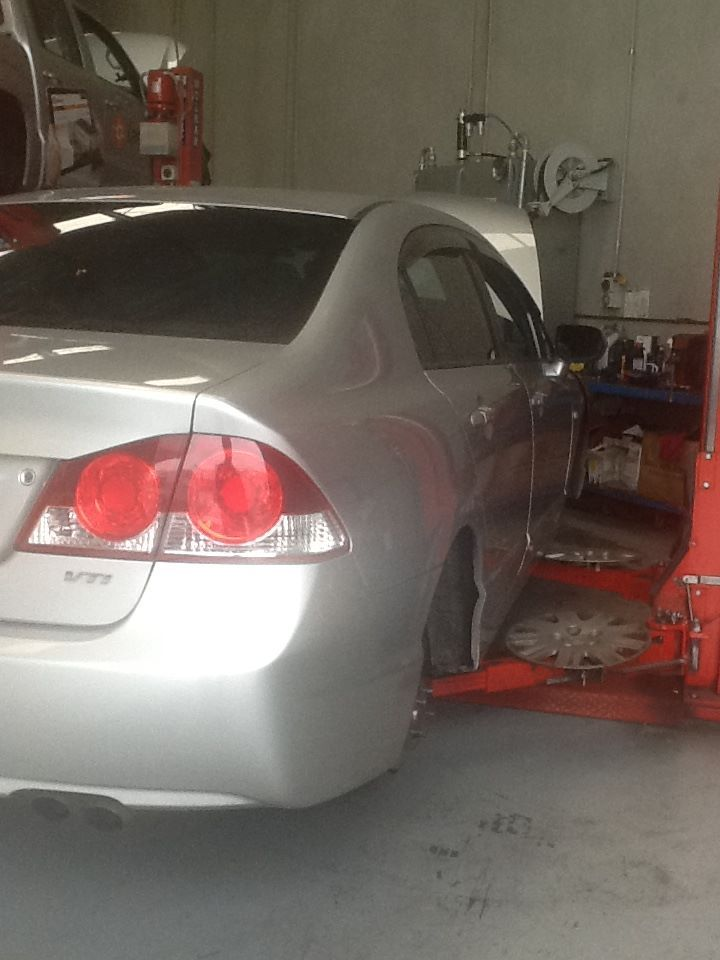 Service and rear brakes on Honda Civic, another happy