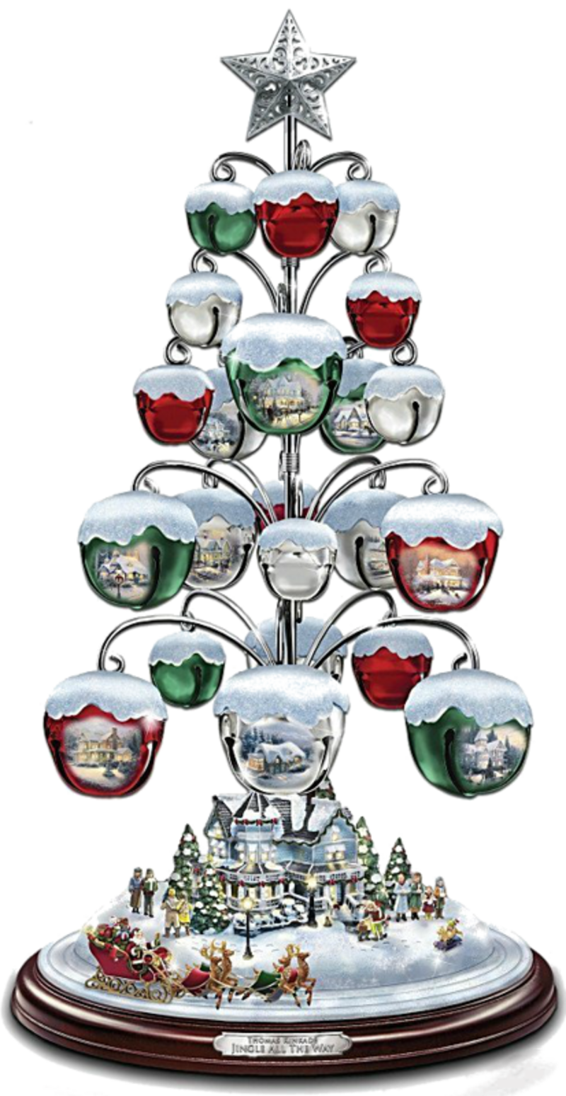 Jingle All The Way Bell Ornament Tabletop Christmas   Thomas Kinkade Jingle  All The Way Bell Ornament Tabletop Christmas Tree By The Bradford Exchange  Link