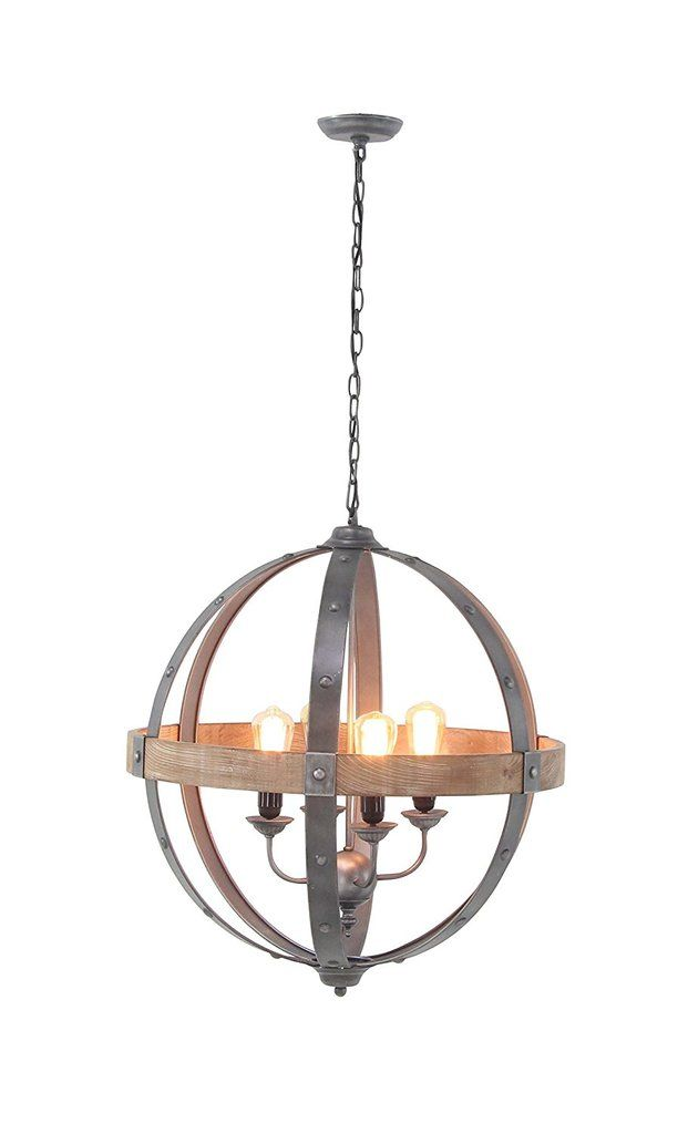 Annata bent wood and metal sphere chandelier 265 inches wide x 28 annata bent wood and metal sphere chandelier 265 inches wide x 28 inches high 4 aloadofball Image collections