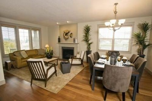 Decorating Living Room Dining Combo Light Grey With Brown Couch 4tricks To Decorate And New More