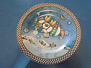 Snow Angel Village Salad Plate Debbie Mumm Style 3 & Snow Angel Village Salad Plate Debbie Mumm Style 3 | Christmas ...
