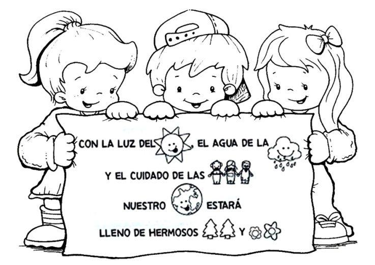 Dibujo Para El Dia Del Medio Ambiente Baby Shower Coloring Pages Education