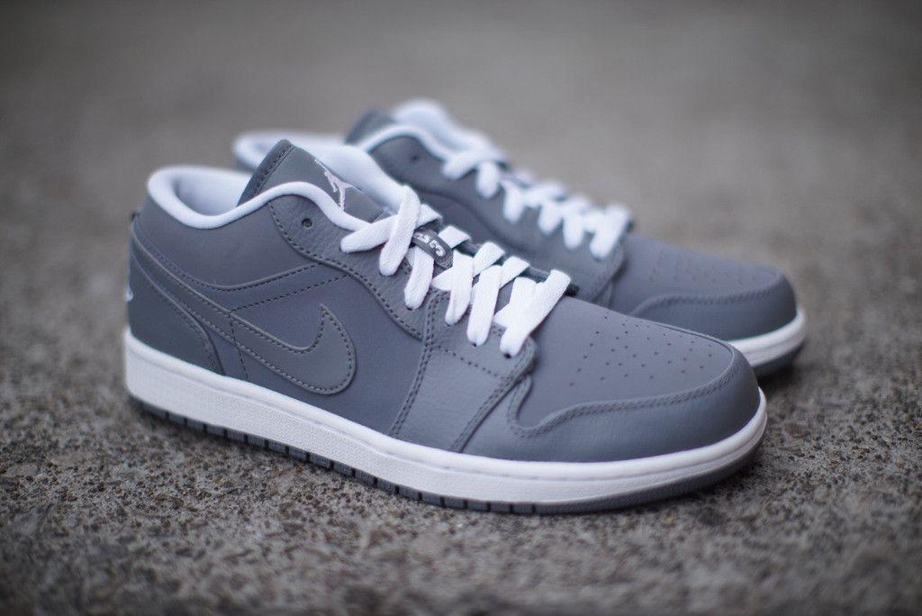 Nike Air Jordan Aj 1 Chaussures Basses En Cuir
