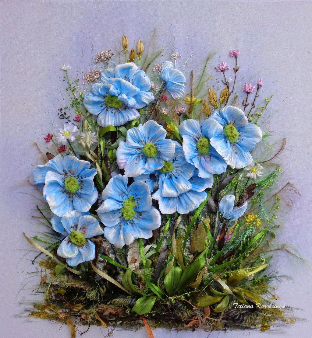 Blu flowers by TetianaKorobeinyk.deviantart.com on @DeviantArt ...