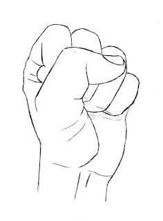 How To Draw Clenched Fist : clenched, Clenched, Finished, Drawing, Fist,, Hands,, Reference