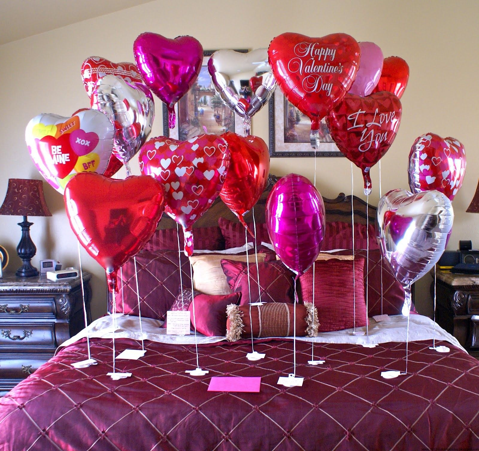 valentines dday decorations and things | valentine\'s day bed ...