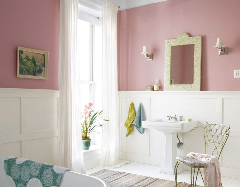 Sherwin Williams Fading Rose 6296 Pink Painted Walls Rose Bedroom Guest Room Colors