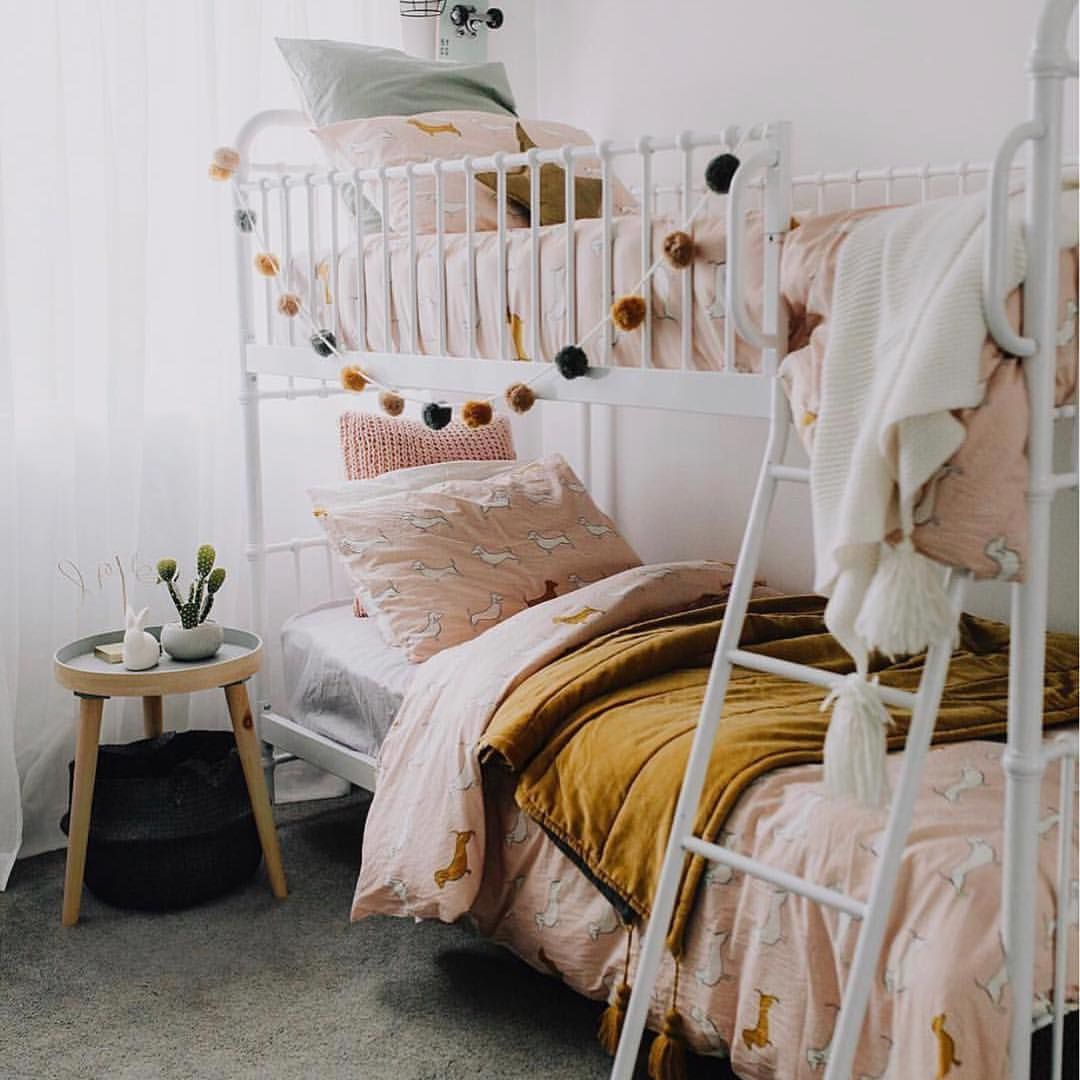 Gorgeous Room With All Our Favourite Colours Image Bed For Girls Room Girl Room Room Inspiration