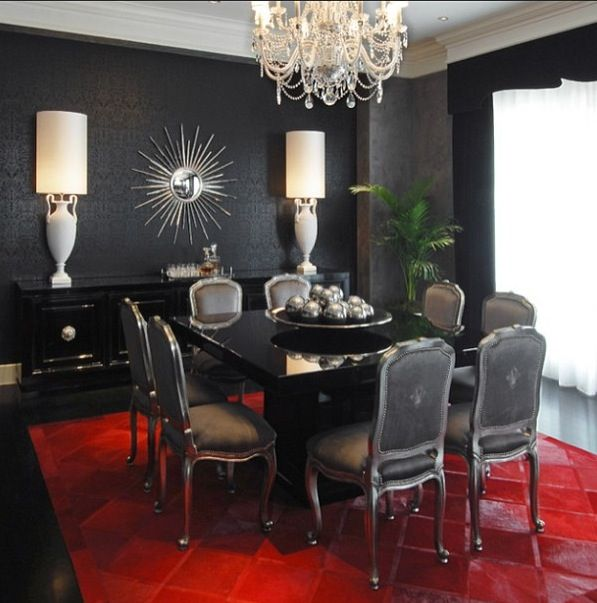 Superior This Oversize Rug In Ruby Red Makes Quite A Statement. Design Your Entire Dining  Room In A Monochromatic Palette And Make The Focal Point The Area Rug.