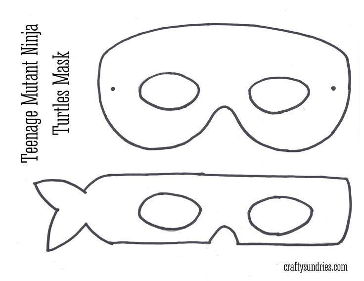 Persnickety image for printable ninja turtle mask template