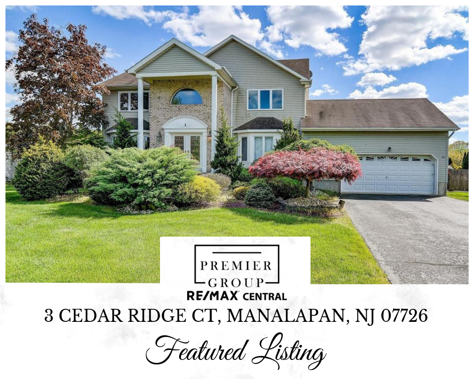 Featured Listing 3 Cedar Ridge Ct Manalapan Nj 07726 This Gem It Will Not Be Available For Long Wel Entry Foyer Center Hall Colonial House Styles