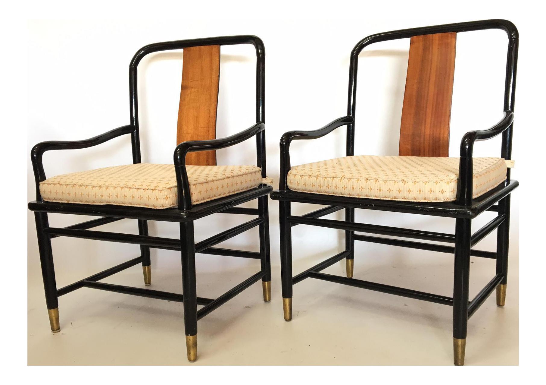 Henredon Asian Dining Chairs Best Fabrics For Chinoiserie Elan Koa Wood Arm