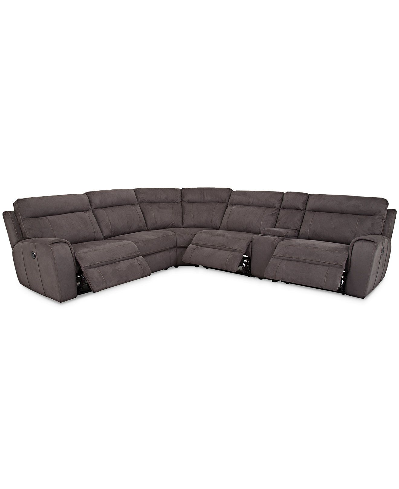 Torie 6 Piece Sectional with 3 Power Motion Recliners Sectional